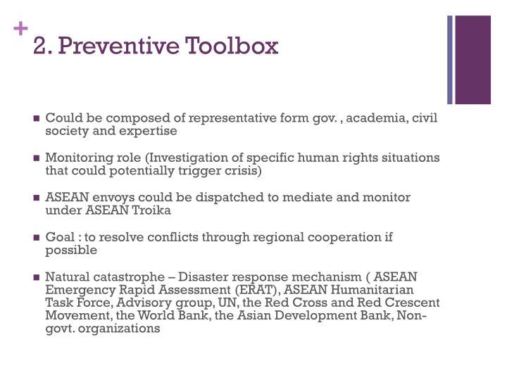 2. Preventive Toolbox