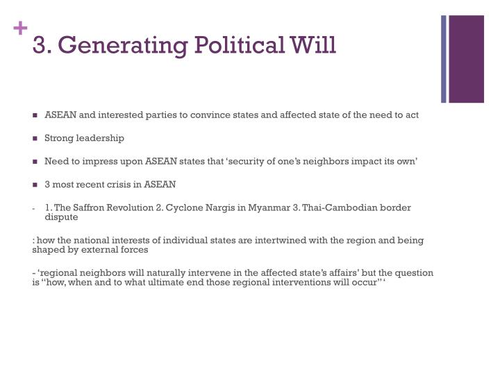 3. Generating Political Will