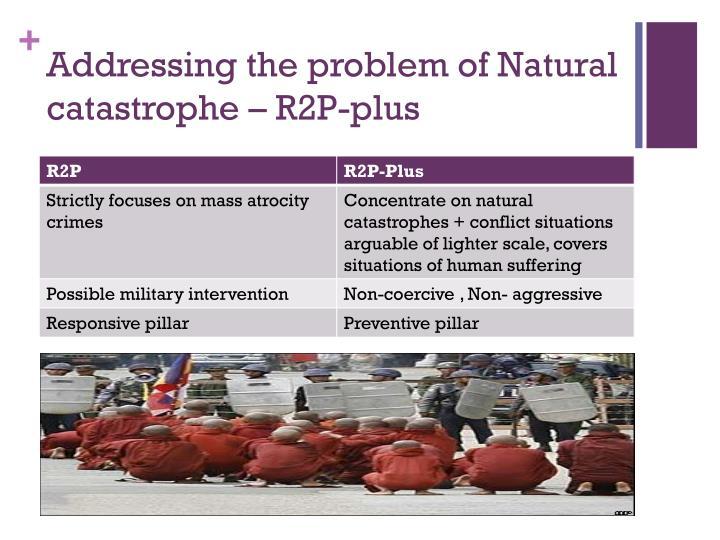Addressing the problem of Natural catastrophe – R2P-plus
