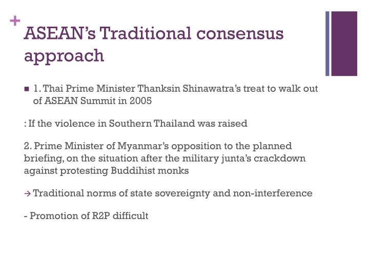 ASEAN's Traditional consensus approach