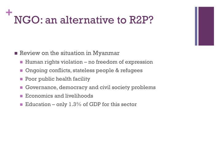 NGO: an alternative to R2P?