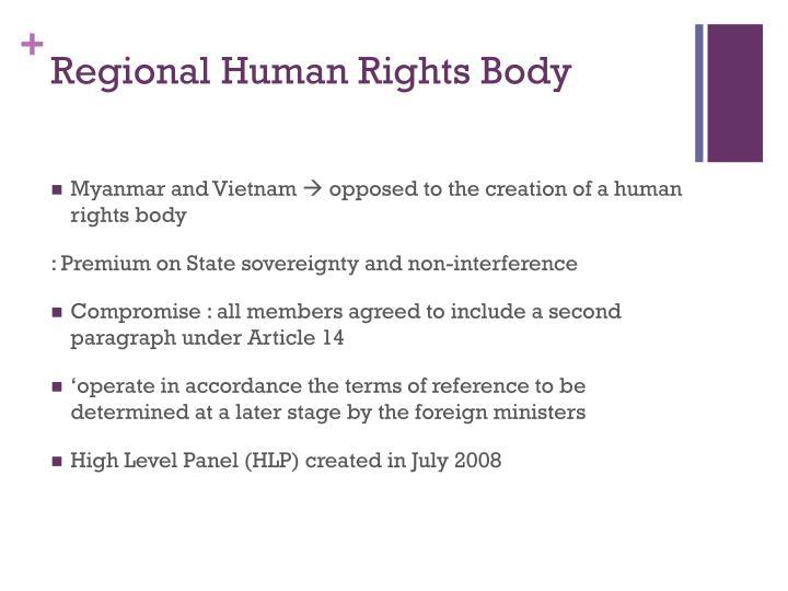 Regional Human Rights Body