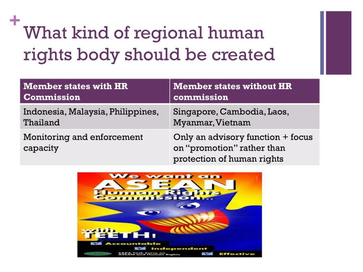 What kind of regional human rights body should be created