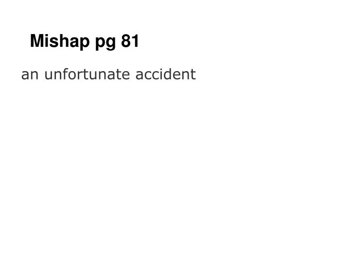 Mishap pg 81