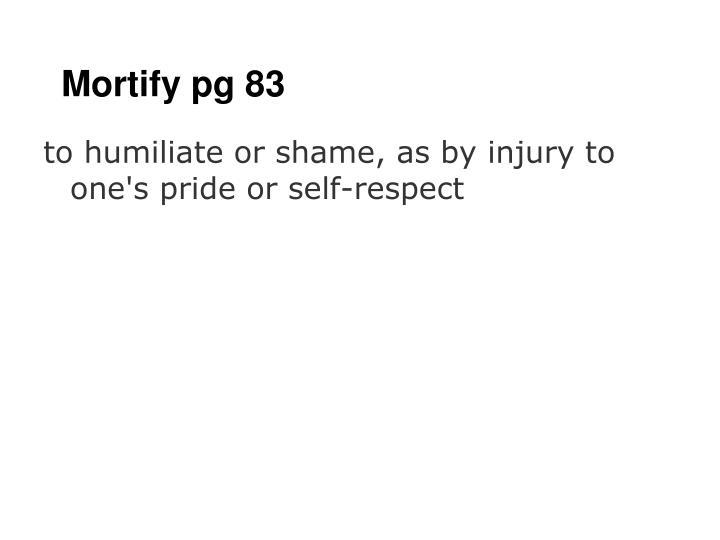 Mortify pg 83