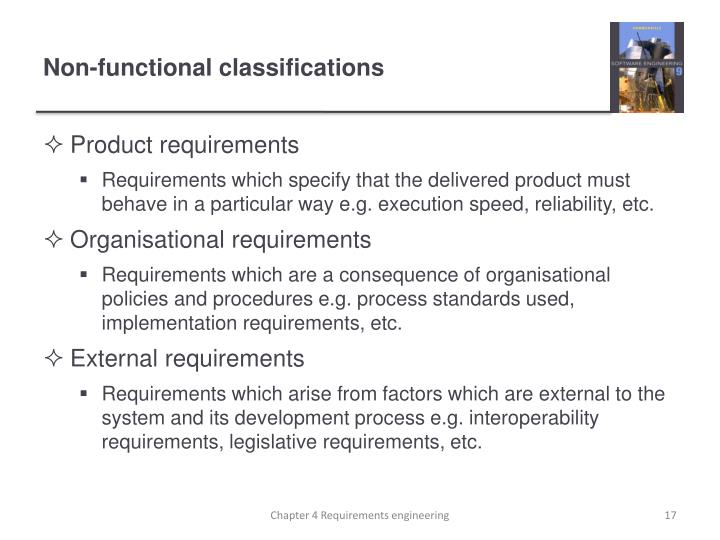 Non-functional classifications