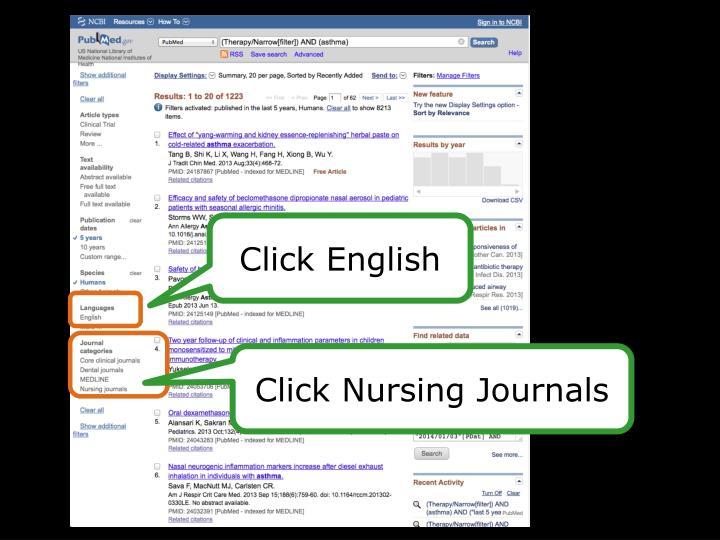 Click English