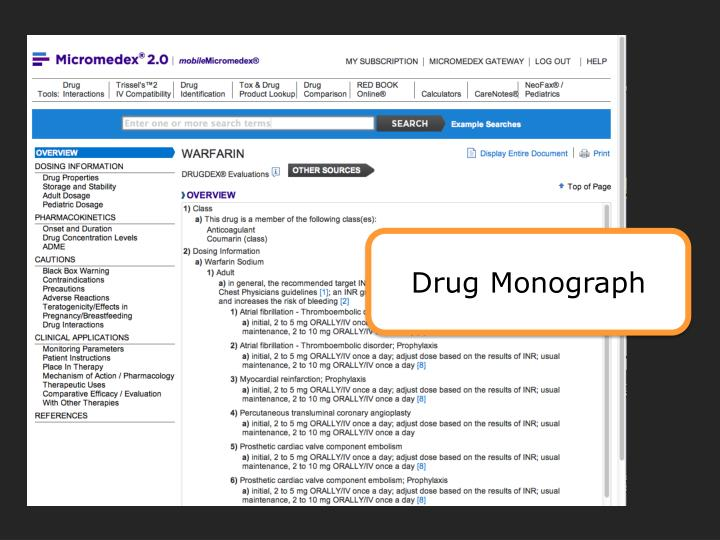 Drug Monograph