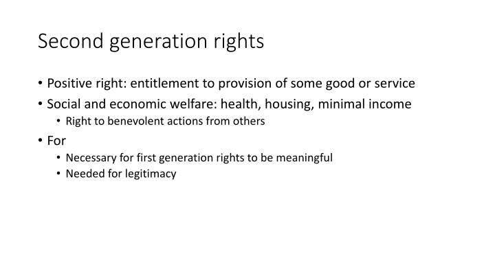 Second generation rights