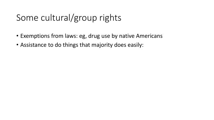 Some cultural/group rights