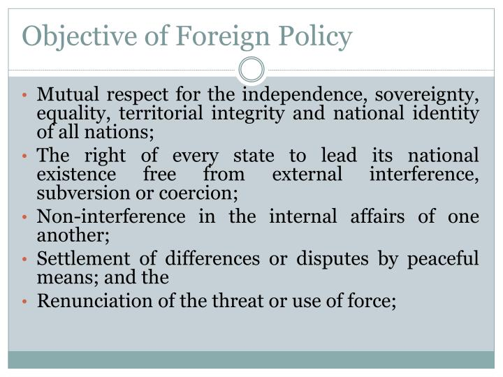 Objective of Foreign Policy