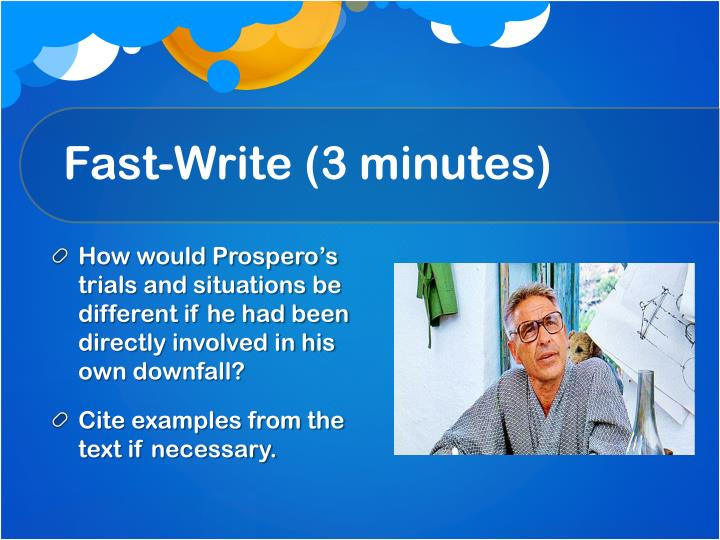 Fast-Write (3 minutes)