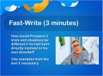fast write 3 minutes