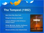 the tempest 1982