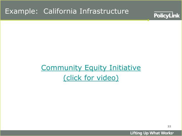 Example:  California Infrastructure