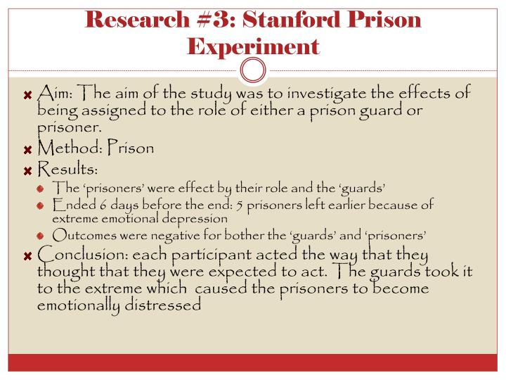 Research #3: Stanford Prison Experiment
