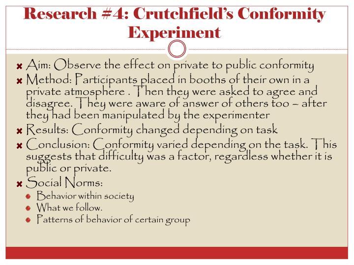 Research #4: Crutchfield's Conformity Experiment
