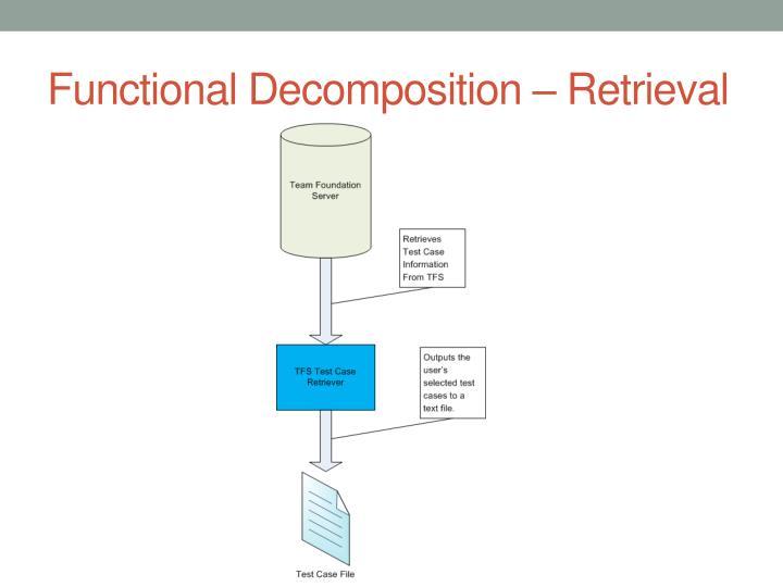 Functional Decomposition – Retrieval