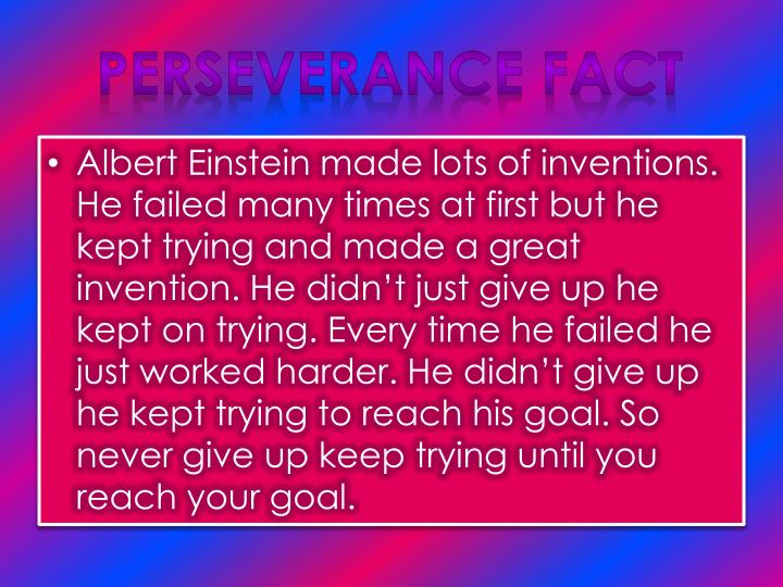 Perseverance Fact