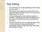 peer editing