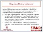 filing and publishing requirements