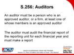 s 256 auditors
