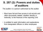 s 257 2 powers and duties of auditors