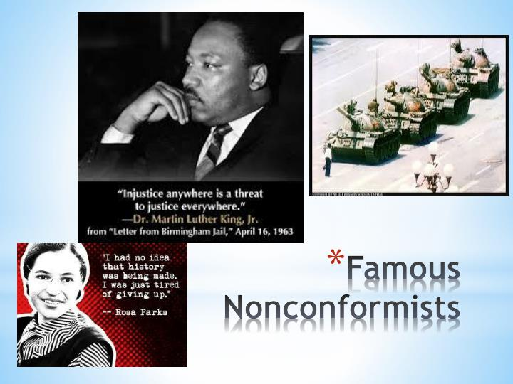 Famous nonconformists