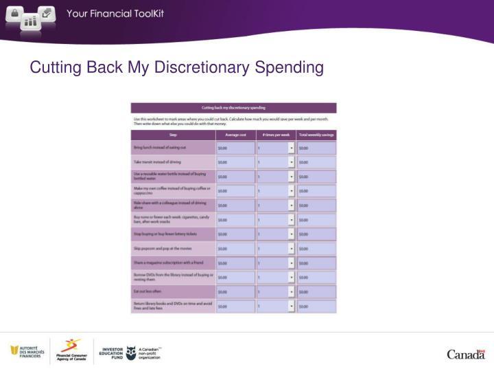 Cutting Back My Discretionary Spending