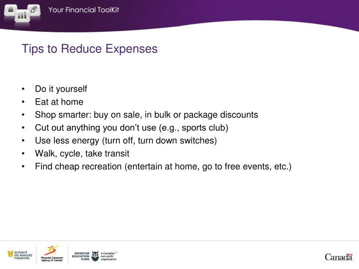 Tips to Reduce Expenses