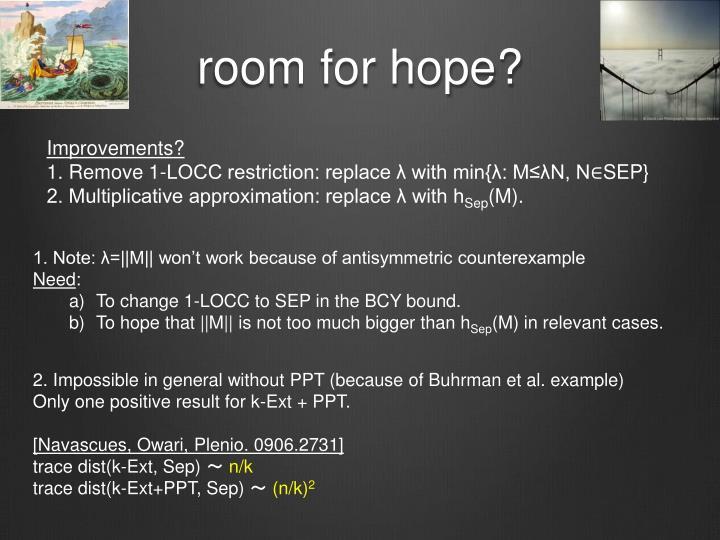 room for hope?