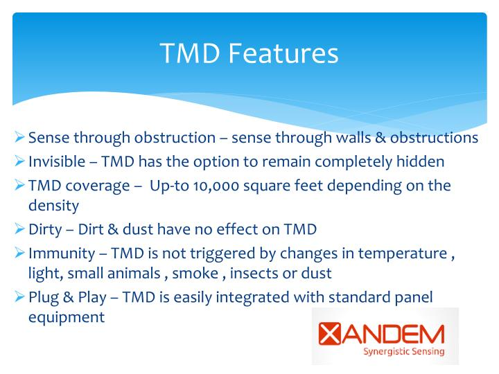 TMD Features