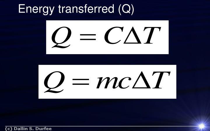 Energy transferred (Q)