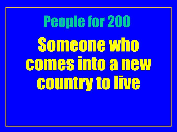 People for 200