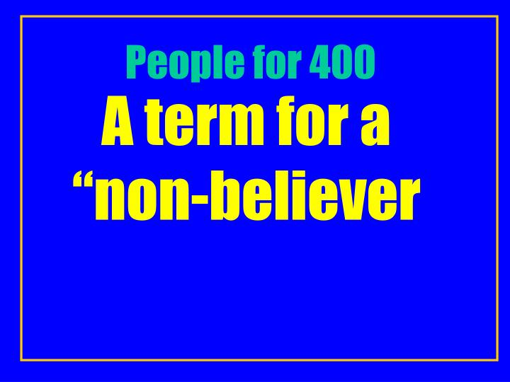 People for 400