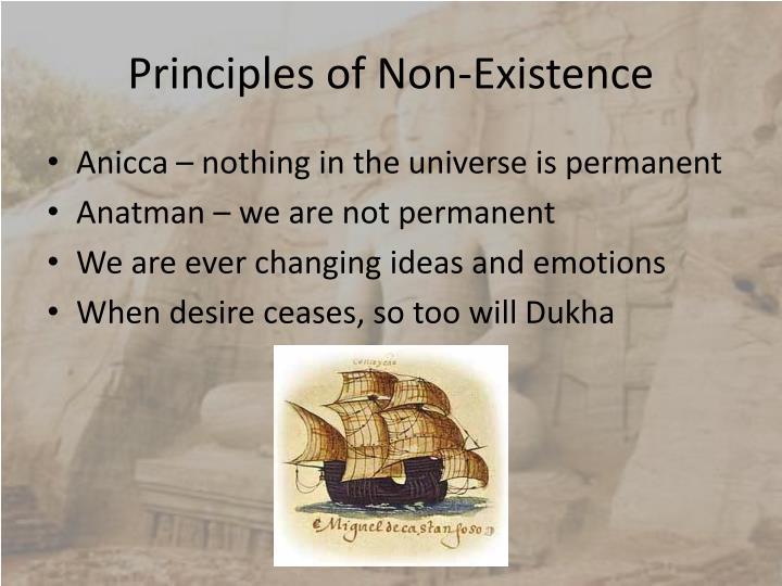 Principles of Non-Existence