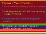 theme you decide