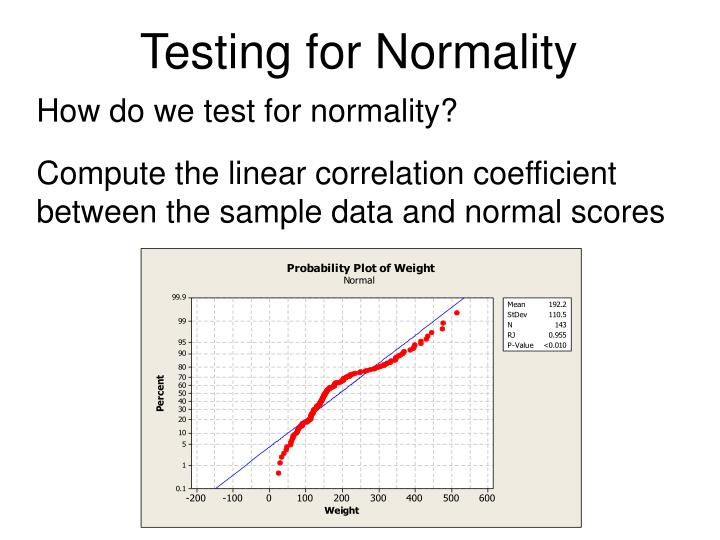 Testing for Normality