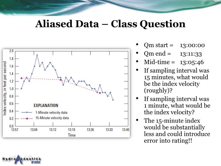 Aliased Data – Class Question