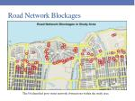 road network blockages