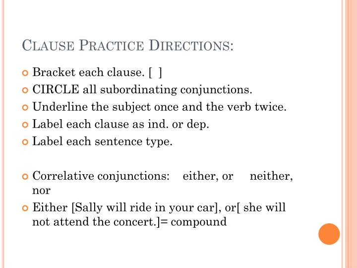 Clause Practice Directions:
