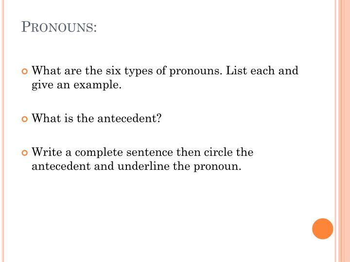Pronouns: