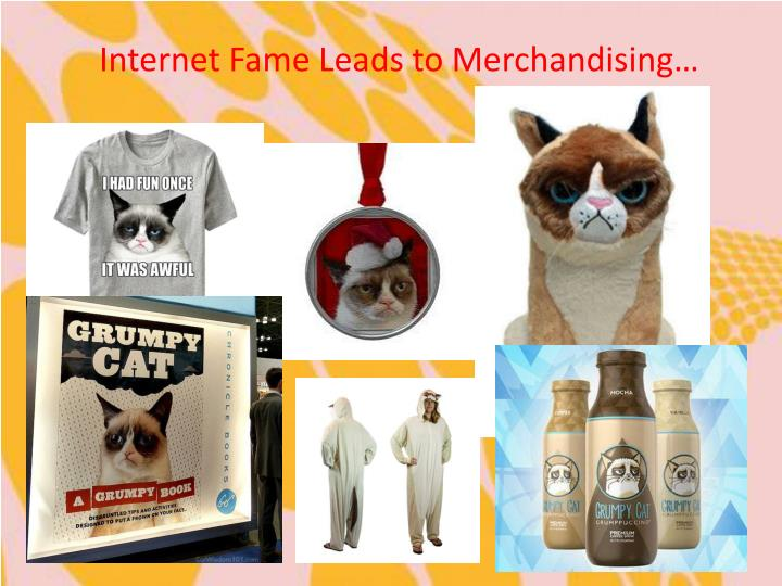 Internet Fame Leads to Merchandising…