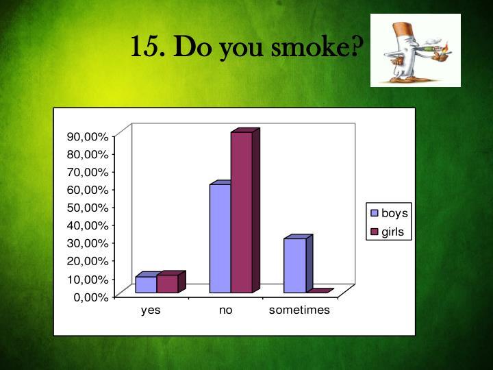 15. Do you smoke?