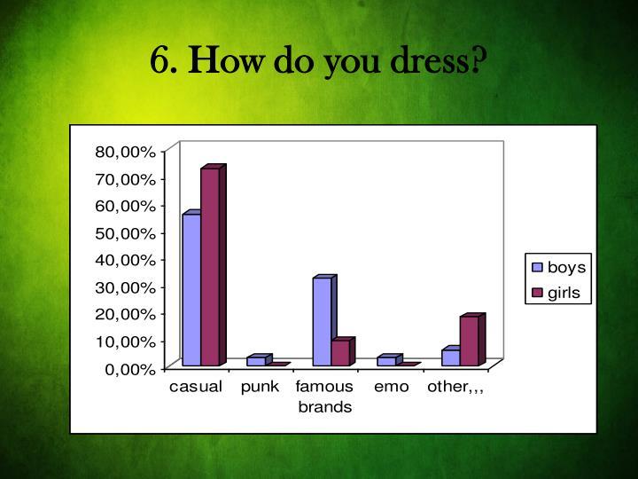 6. How do you dress?