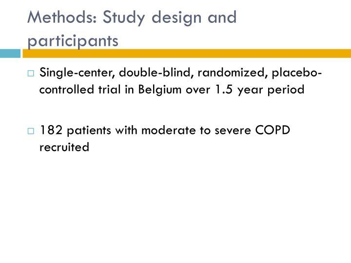 Methods: Study design and participants
