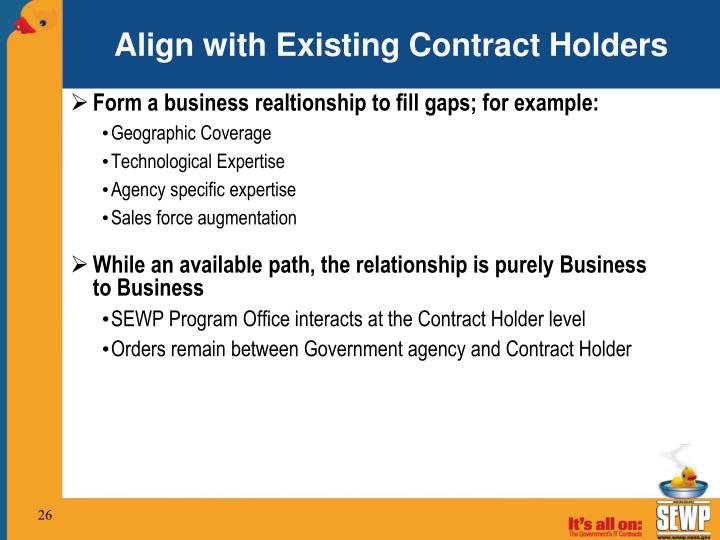 Align with Existing Contract Holders
