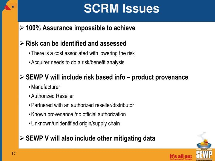 SCRM Issues