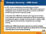 strategic sourcing omb goals