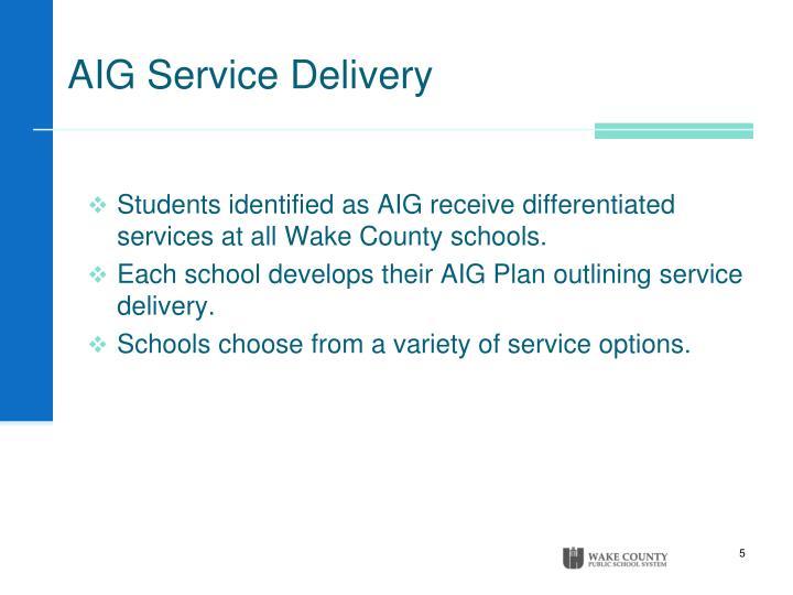 AIG Service Delivery